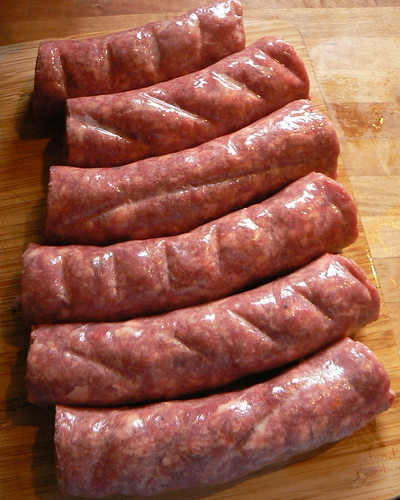 Boerewors ready to grill
