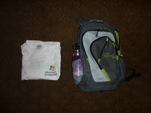 Swag from Day 0 of TechEd 2010
