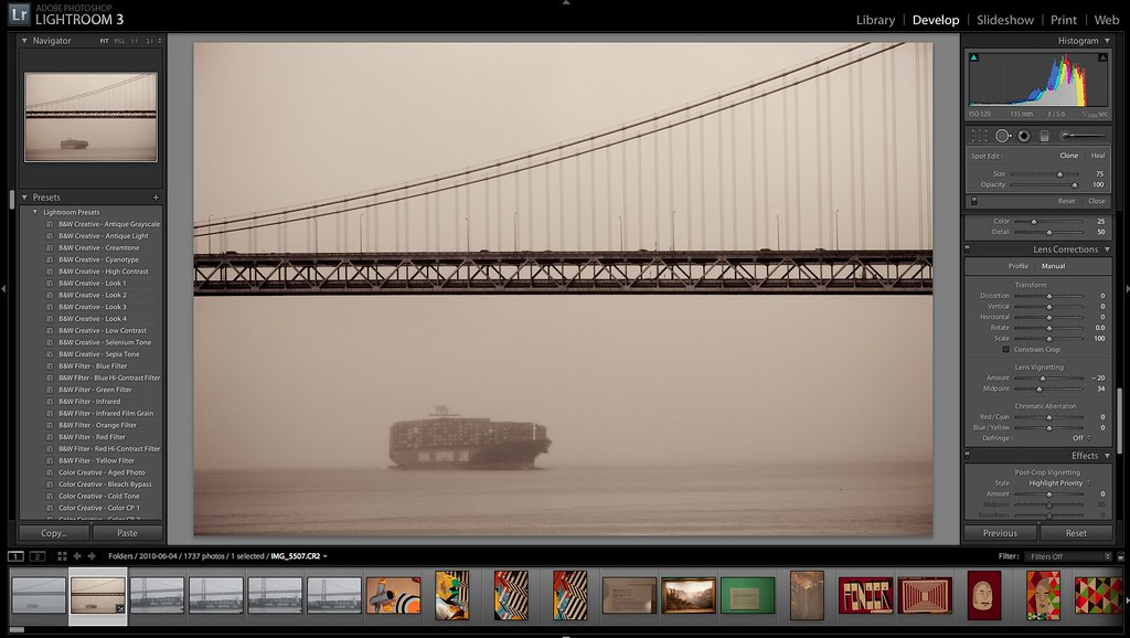 Default Presets Included in Lightroom 3