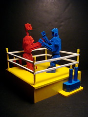 Rock'em Sock'em Robots (Profound Whatever) Tags: blue red white yellow toy hit lego ring knockout marx punch boxing mattel rockemsockemrobots marvinglass