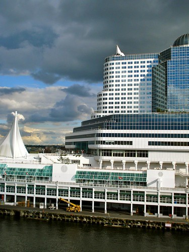 Five sails at Canada Place