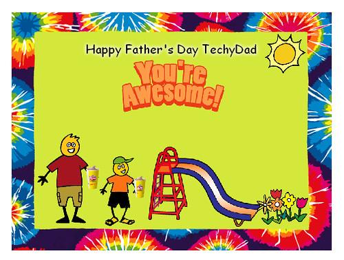 Wendy's Card to TechyDad