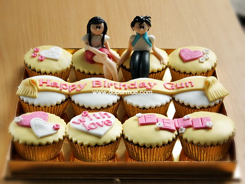 Couple Cupcake Set