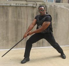 BLADE: Vampire Killer (MorpheusBlade) Tags: sunglasses costume cosplay vampire superhero blade comicon wizardworld daywalker bladetheseries bladehouseofchthon wizardentertainment wizardworldphiladelphia2010