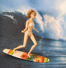 Tiffany is a surfer girl