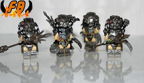 custom Predator minfigs