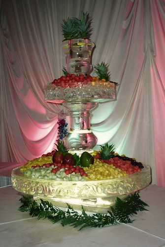 Fruit Fountain Display ice sculpture