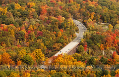 Fabulous Foliage (Michelle in NY) Tags: road bear bridge autumn mountain ny fall cars colors leaves driving overpass upstateny foliage hudso