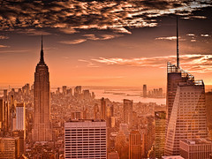 The Empire State (wilsonaxpe) Tags: sunset newyork empirestatebuilding manhatten newyorksunset manhattensunset