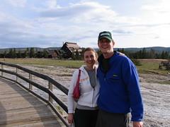 Jessica and Dan at Old Faithful Inn