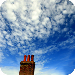 Chimney Puff (altocummulus floccus) (s0ulsurfing) Tags: blue roof light red chimney sky cloud sunlight brick texture beautiful weather clouds contrast wonderful amazing cool fantastic skies bright artistic wind suburban patterns gorgeous bricks creative puff vivid surreal fluffy smoking getty strong framing soe chimneys nube lookingback meteorology 2007 nephology optimistic floccus supershot instantfave s0ulsurfing abigfave artlibre worldbest shieldofexcellence colorphotoaward aplusphoto superbmasterpiece altocummulus altocummulusfloccus