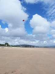 Flying my Kite on the beach