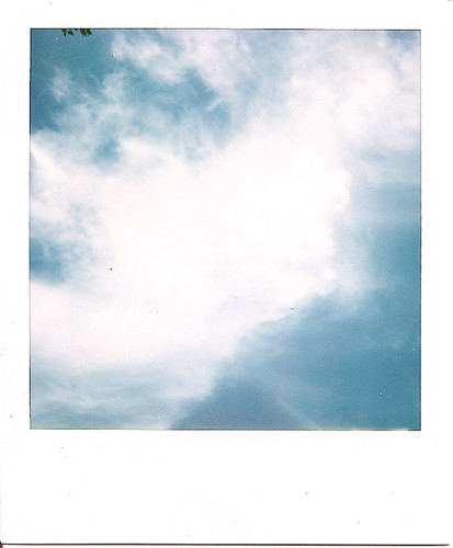 blue sky polaroid