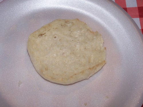 Half of an English muffin