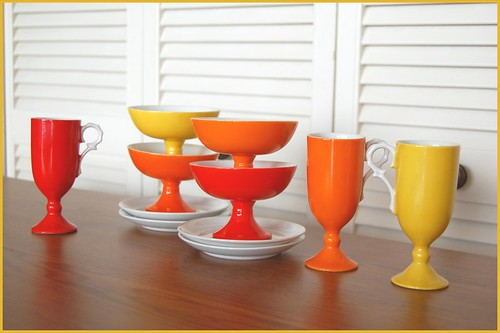 bright bowls and cups