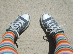 Chucks (Polka Dot Princess) Tags: blue socks dark converse taylor chuck knee allstar chucks stripy