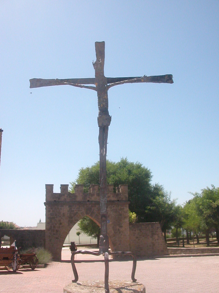 Am Kreuz verhungerter Jesus