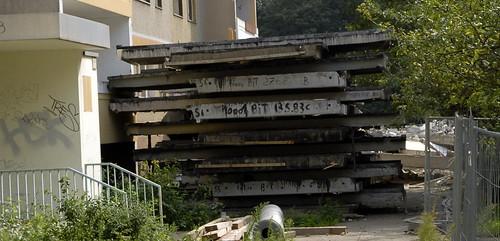 Plattenbau Abriss in Marzahn