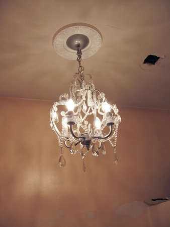 chandelier on