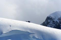 mountain rescue helicopter (KevanLiz) Tags: thealps chamonix montblanc aiguilledumidi