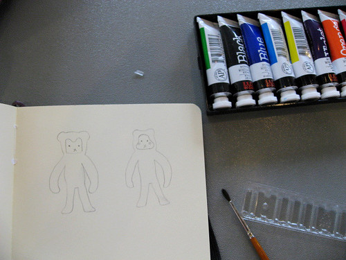 monkeys, before painting