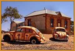 Volkswagons at Silverton, Near Broken Hill, NSW, Australia (Black Diamond Images) Tags: vw desert silverton australia explore nsw outback picnik volkswagon brokenhill umberumberka barrierranges sigma1770 outbacknsw johndynon blackdiamondimages oldvolkswagons silvertonvolkswagons