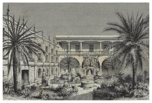 006-Patio del museo de Mexico-Les Anciennes Villes du nouveau monde-1885- Désiré Charnay