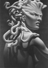 "Dan Ouellette - ""Medusa"" (Anagnorisis Art Project) Tags: art film photography artwork drawing surreal mutant creature musicvideo mutation psychosexual anagnorisis binnorie psychoanalytical samanthalevin neogrotesque neuroticadivine danouellette"
