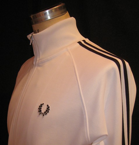 Fred Perry - J5327 - Track Jacket - White with Navy by you.
