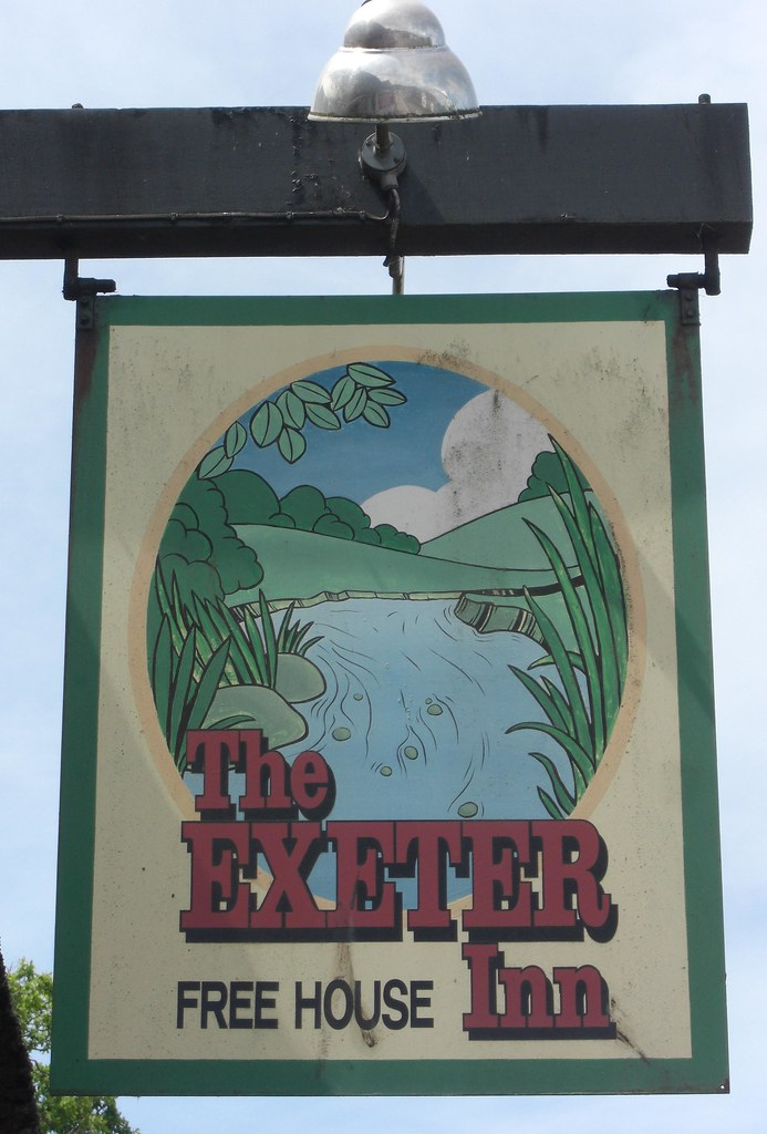 Newton Poppleford Exeter Inn pub sign