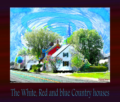 The White, Red and blue Country houses