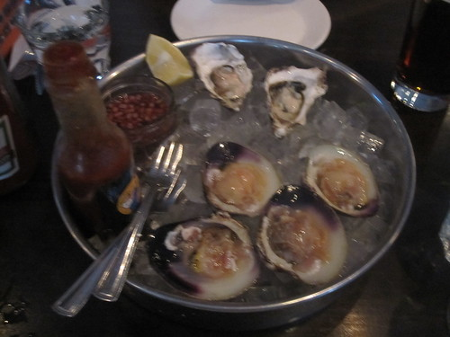 Oysters and clams at Lucille's