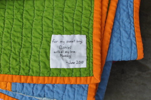 Daniel's Big-Boy Quilt - label detail