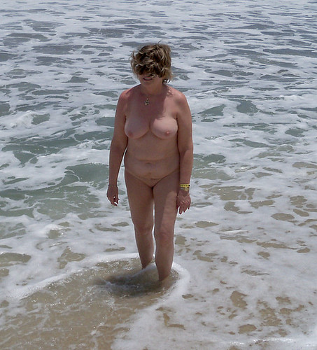 first topless totally naked beach pics: woman, women, naked, female, breast, beach, nudebeach, shaved, boobs, tits, nude