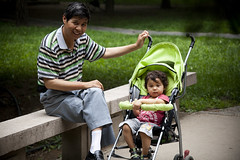 A children and his father (CyprienR) Tags: baby cute father   tsinghua