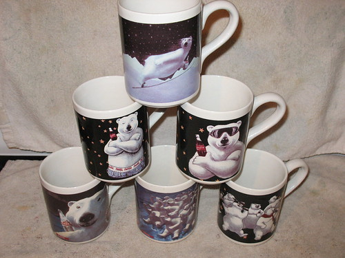 Coca-Cola bear mugs for sale