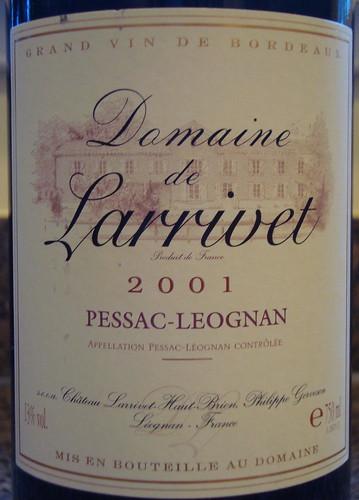 2001 Domaine de Larrivet