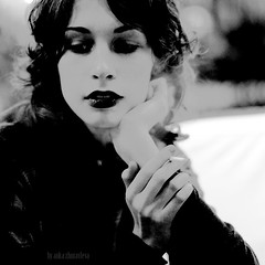 the tobacco flower (anka_zhuravleva) Tags: smoke fingers lips lipstick sigarette