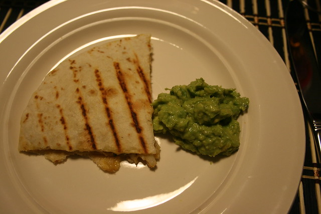 crab quesedilla & homemade guacamole