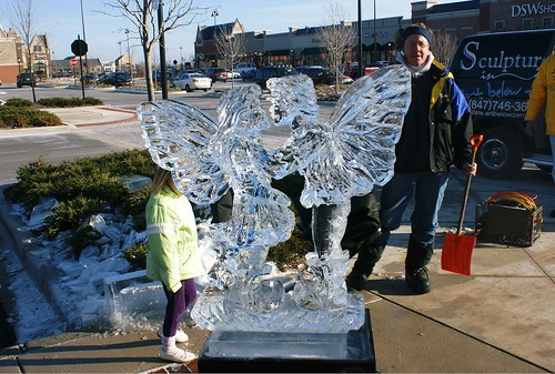 Fairies by Paul 2 ice sculpture