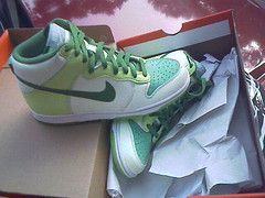 Glow in the dark Nike dunks