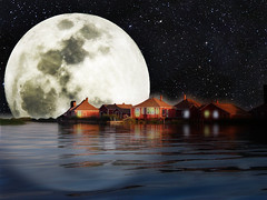 A Really, REALLY, Full moon ...~(Photoshop Junkies)~