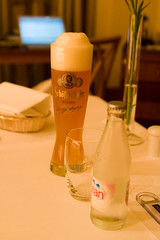 hefeweizen and water