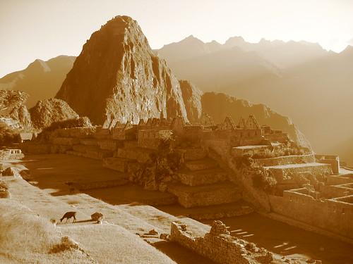 Machu Picchu - sepia