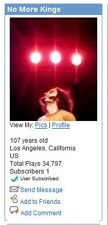 MySpaceTV: User Subscribed