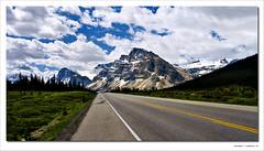 Highway 93 (justpedalhard) Tags: canada calgary alberta banffnationalpark icefieldsparkway highway93 ef1740mmf4l canonllens artizenhdr canonrebelxti400d michaellogatoc adobelightroomlr