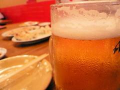 餃子市:やっぱビール