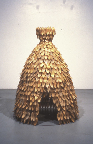 Erin Curry art- sculpture of dress titled Lisa Dwelling