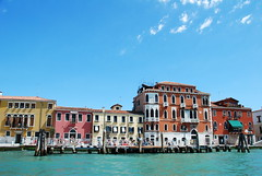 Vibrant Venice (Ted Somerville) Tags: pink venice red sea orange water colors yellow interesting rainbow warm mediterranean vibrant clash venezia juxtapose juxtaposing
