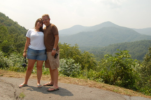 Us, along the Blue Ridge Parkway